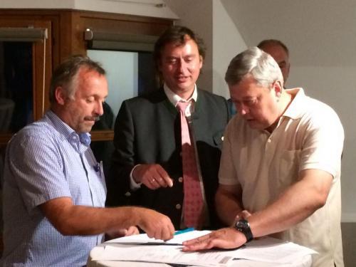 Übergabe Vereinsheim-erweiterung